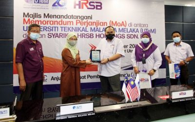 Memorandum of Agreement (MoA) Signing Ceremony Between UTeM and HRSB Holdings Sdn. Bhd.