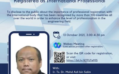 Knowledge Transfer Program (KTP) from University to Industry Serie 15